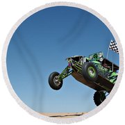 Jumping Hulk Round Beach Towel