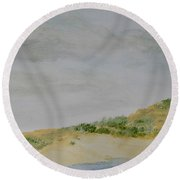 June Dune Round Beach Towel