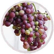 June Grapes #1 Round Beach Towel