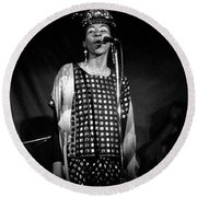 June Tyson Round Beach Towel
