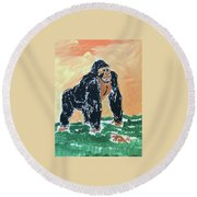Jungle Beast Round Beach Towel