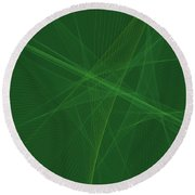 Jungle Computer Graphic Line Pattern Round Beach Towel