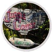 Jungle Cruise Round Beach Towel