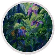 Jungle Delights Round Beach Towel