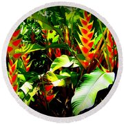 Jungle Fever Round Beach Towel