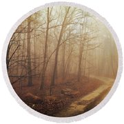 Jungle Journey - The Path Sepia Round Beach Towel