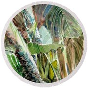 Jungle Light Round Beach Towel