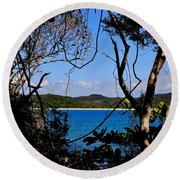 Jungle Portal Round Beach Towel