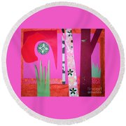 Jungle Temple Round Beach Towel
