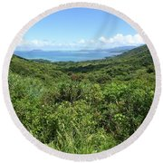 Jungleized Valley Round Beach Towel