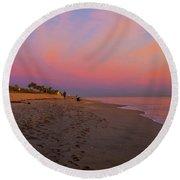 Juno Beach Pastel Sunrise Round Beach Towel