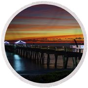 Juno Pier Twilight Wide Round Beach Towel