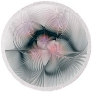 Junos Mercy - Fractal Art Round Beach Towel