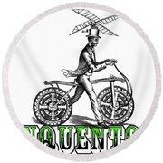 Junquentoys Bike-o-vator Round Beach Towel