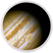 Jupiter And The Great Red Spot Round Beach Towel