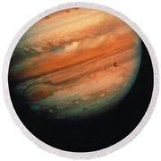 Jupiter, Europa, & Io Round Beach Towel