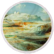 Jupiter Terrace  Yellowstone Round Beach Towel