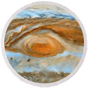 Jupiterian Storm Of The Century Round Beach Towel