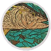 Just A Fish Round Beach Towel