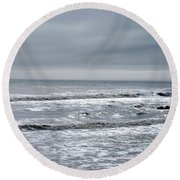 Just A Grey Day Round Beach Towel