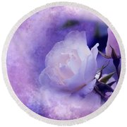 Just A Lilac Dream -4- Round Beach Towel by Issabild -