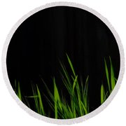 Just A Little Grass Round Beach Towel