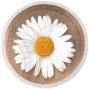 Just A Lonely Flower On Canvas Round Beach Towel