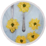 Just A Spoonful Round Beach Towel