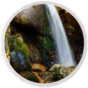 Just A Very Small Waterfall II Round Beach Towel