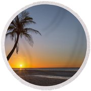 Just Another Bantayan Island Sunrise Round Beach Towel