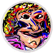 Just Another Pretty Face Round Beach Towel