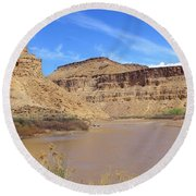 Just Around The River Bend 5 Round Beach Towel