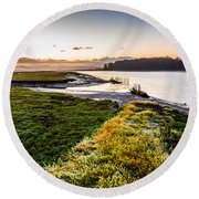 Just As It Came To Be Round Beach Towel