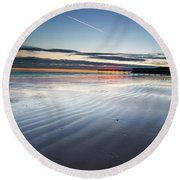 Just Before Sunrise Round Beach Towel