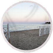 Just Before Sunset  Round Beach Towel