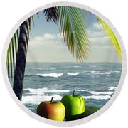Just Dessert Round Beach Towel