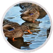 Just Ducky Round Beach Towel