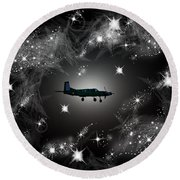Just For Fun Through The Stars Round Beach Towel