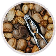 Just Nuts Round Beach Towel