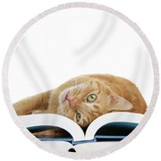 Just One More Story Please? Round Beach Towel