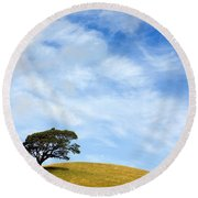 Just One Tree Hill Round Beach Towel