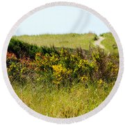 Just Over The Hill Round Beach Towel
