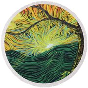 Just Over The Hill Too Round Beach Towel