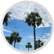 Just Palm Trees Round Beach Towel