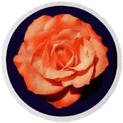 Just Peachy Round Beach Towel