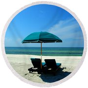 Just The Two Of Us Round Beach Towel