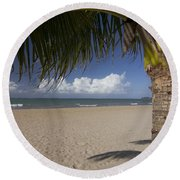 Just You And The Beach Round Beach Towel