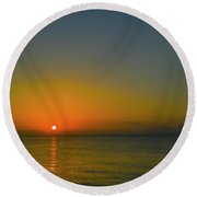Justified Narcissism Round Beach Towel