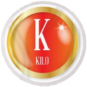 K For Kilo Round Beach Towel
