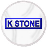 K Stone Round Beach Towel